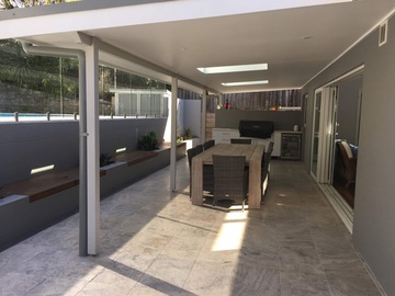 Renting out with online payment: Outdoor entertainment area