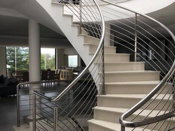 Renting out with online payment: Spiral Staircase with Steel Railing